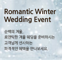 Romantic Winter Wedding Event