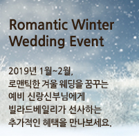 Romantic Winter Wedding Event